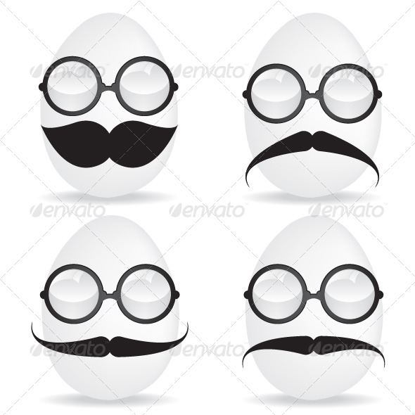 GraphicRiver Egg with Mustache and Sunglasses 5515746