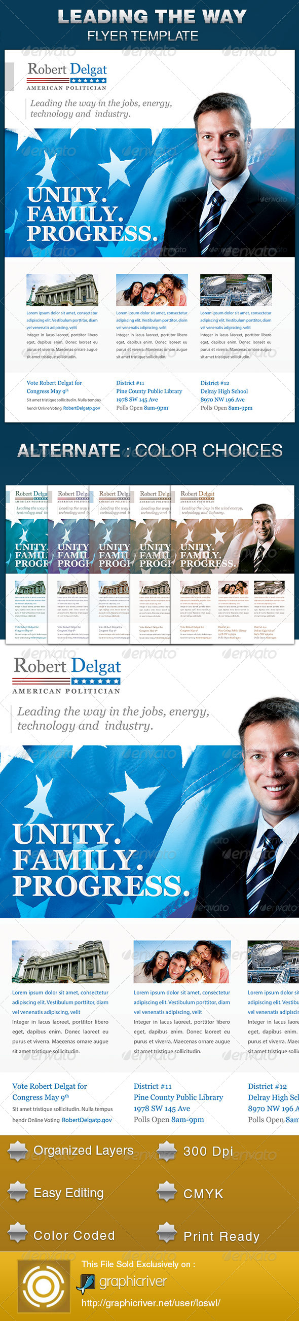 GraphicRiver Leading the Way Political Flyer Template 5515849