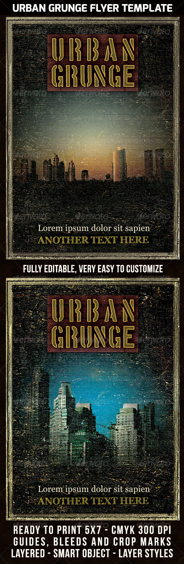 GraphicRiver Urban Grunge Poster Flyer Template 5516650