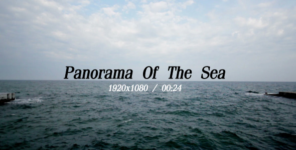 VideoHive Panorama Of The Sea 5484418