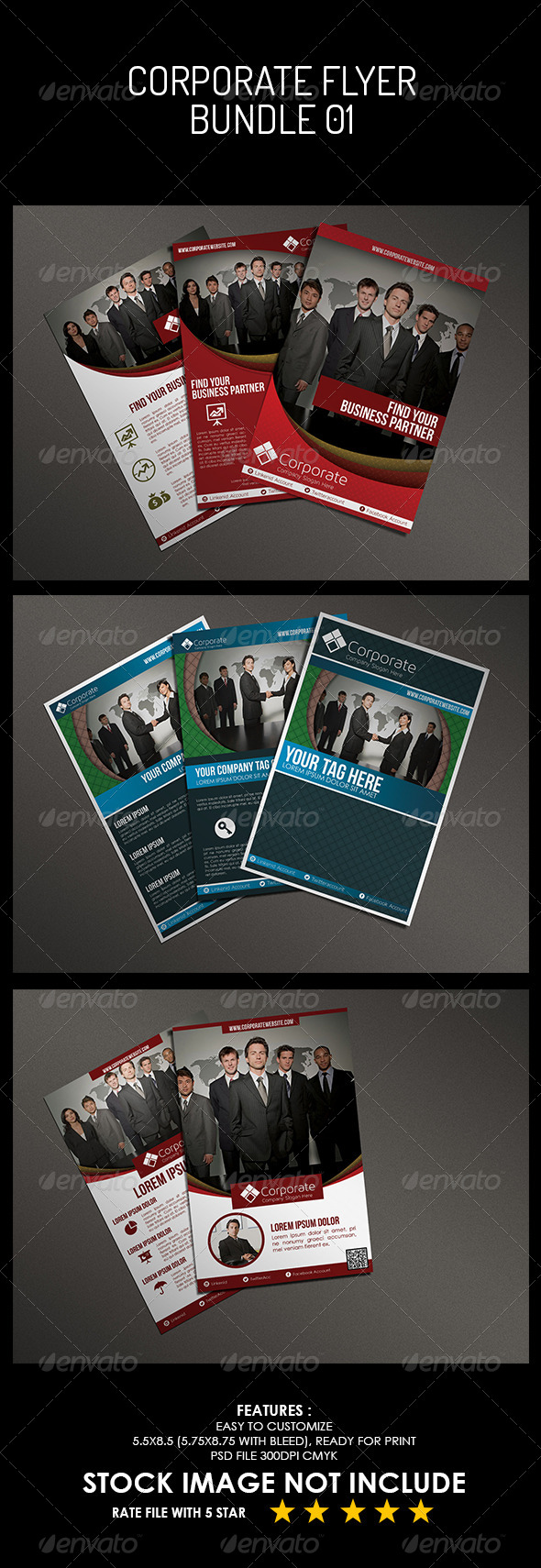 GraphicRiver Corporate Flyer Bundle 01 5494108