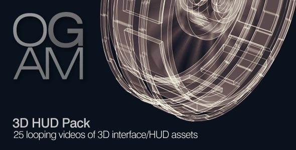 VideoHive 3D HUD Pack 5517841