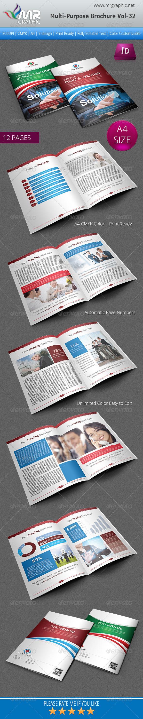 GraphicRiver Multipurpose Business Brochure Template Vol-32 5518000