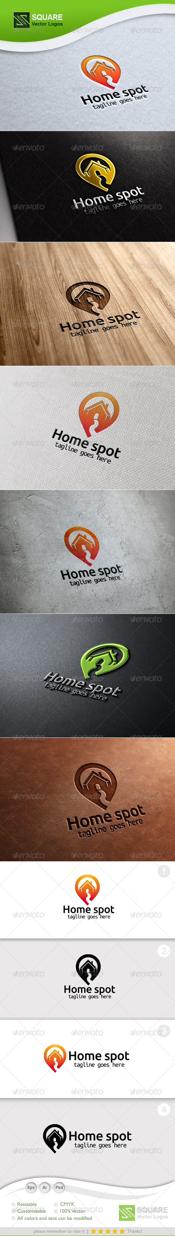 GraphicRiver House Locator Vector Logo Template 5518240