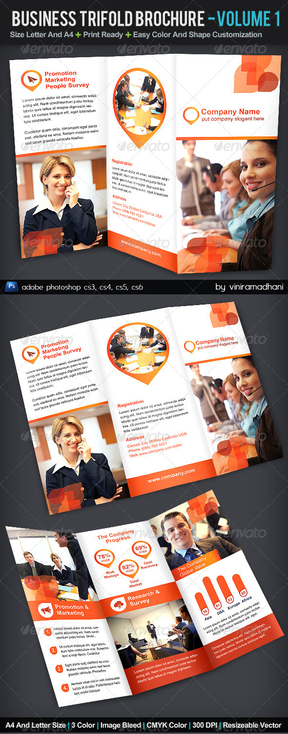 GraphicRiver Business TriFold Brochure Volume 1 5519480