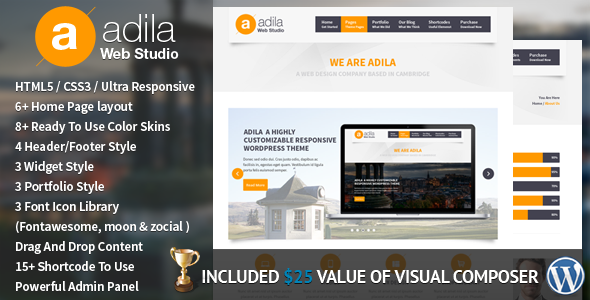 ThemeForest Adila Multipurpose Business WordPress Theme 5281001