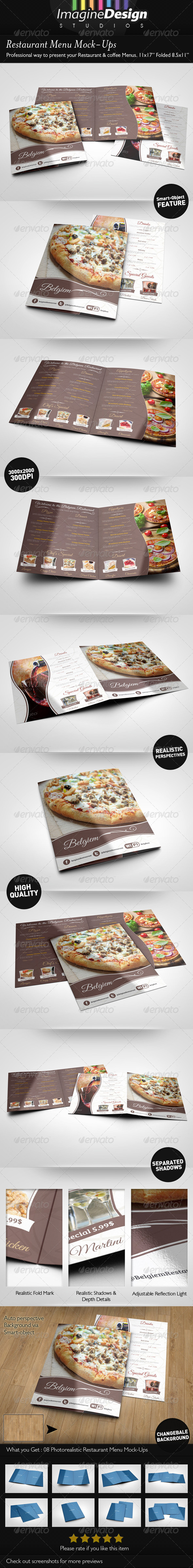 GraphicRiver Restaurant Menu Mock-Ups 5520846