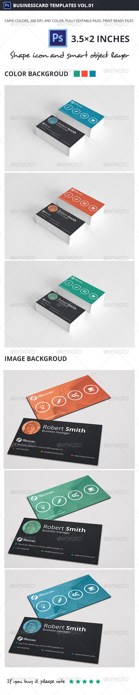 GraphicRiver Business Card Template Vol.01 5520864