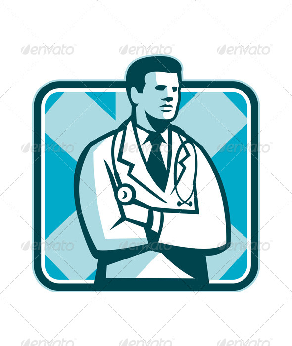 GraphicRiver Medical Doctor with Arms Crossed 5520999
