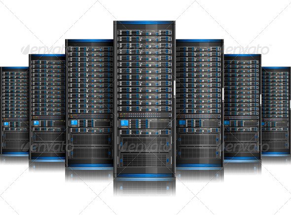 GraphicRiver Row of Servers 5522089