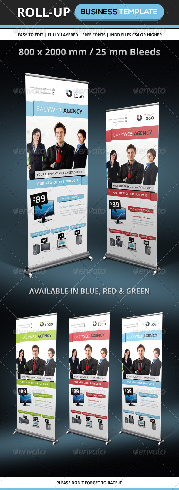 GraphicRiver Corporate & Business Roll-up Template 5522204