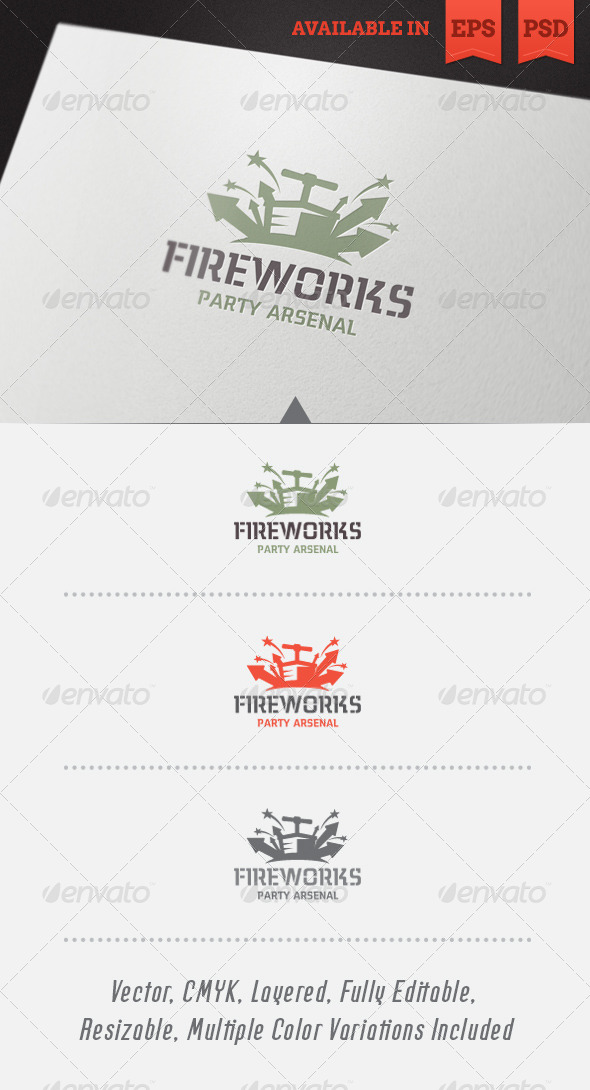 GraphicRiver Party Arsenal Logo Template 5522250