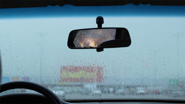 VideoHive Waiting in the Car in Rain 5522285