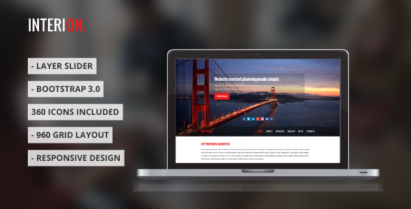 ThemeForest Interion Responsive One Page HTML Template 5522598