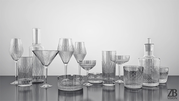 3DOcean Zwiesel Homage Comete Glassware Collection 5522635