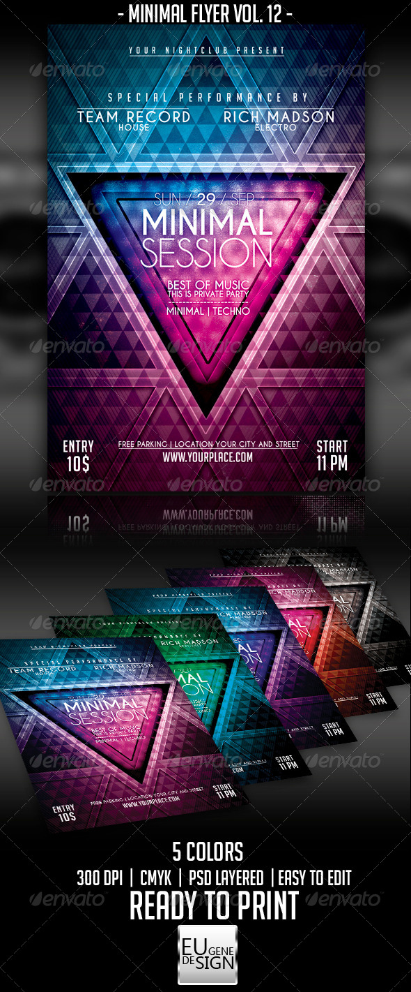 GraphicRiver Minimal Flyer Vol 12 5522727