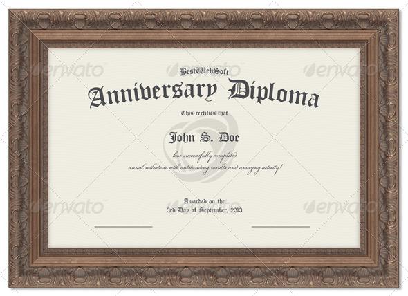 Anniversary Diploma Certificate