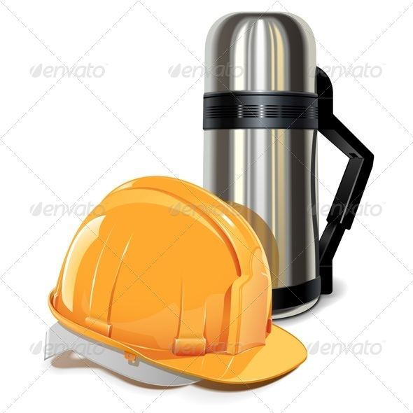 GraphicRiver Vector Thermos with Helmet 5522919