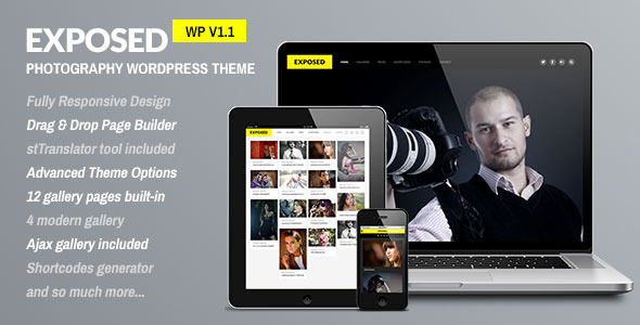 Exposed - Responsive WordPress Photography Theme - Photography Creative