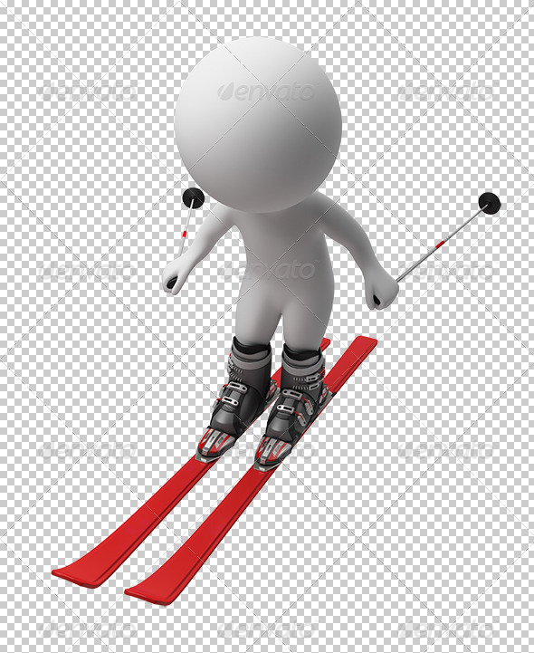 GraphicRiver 3D small people skis 5523365