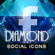 Diamond Social Media Animated Icons - CodeCanyon Item for Sale
