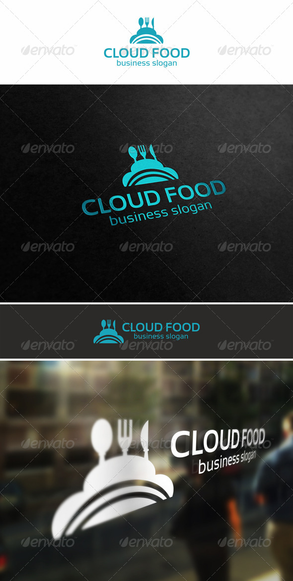 GraphicRiver Cloud Food Logo 5524811
