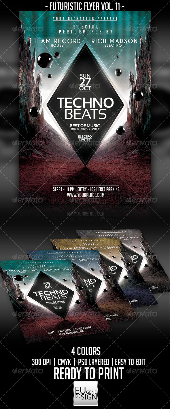 GraphicRiver Futuristic Flyer Vol 11 5524912