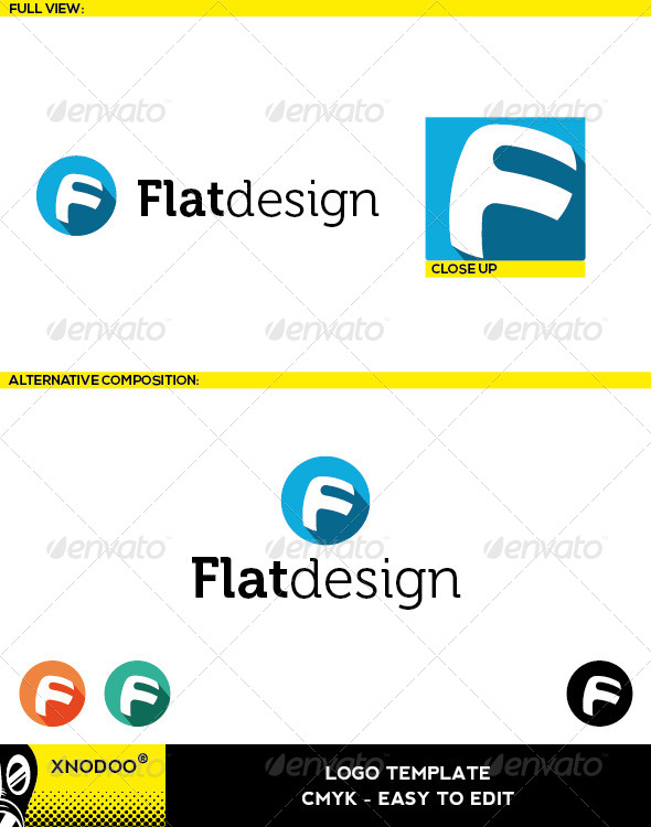 GraphicRiver Flatdesign Logo 5525517