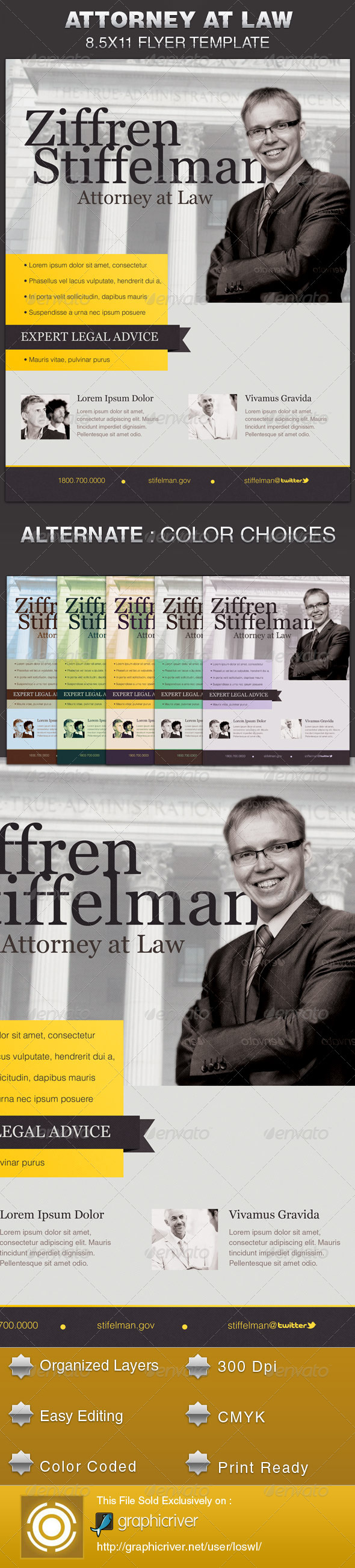 GraphicRiver Attorney at Law Flyer Template 5525669