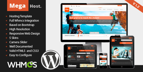 MegaHost - Responsive Hosting - Wordpress Template - Hosting Technology