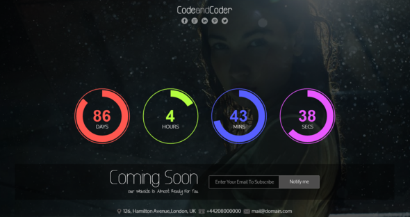 Vivid Responsive Coming Soon Template - Under Construction Specialty Pages