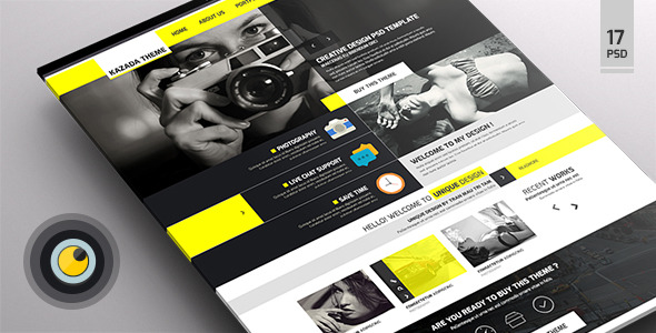 Kazada – Multipurpose PSD Templates - Corporate PSD Templates