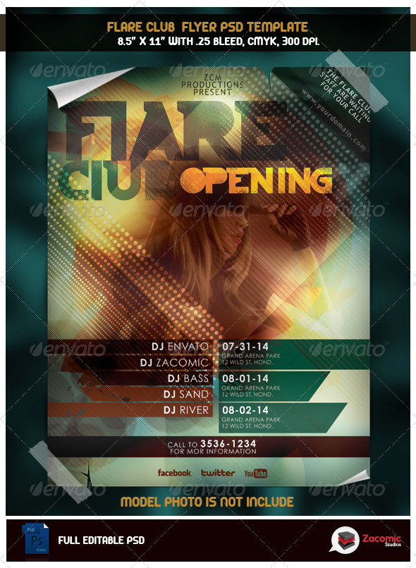 GraphicRiver Flare Club Opening 5527351