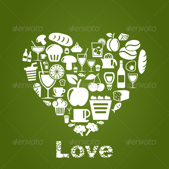 Heart food2 - Stock Photo - Images