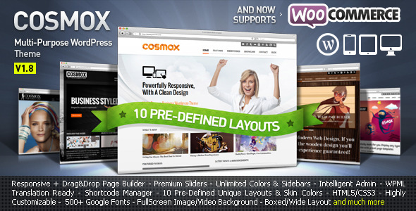 COSMOX - Multipurpose WordPress Theme - Preview Image