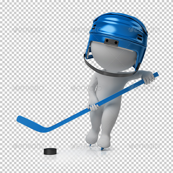 GraphicRiver 3D small people hockey 5528890