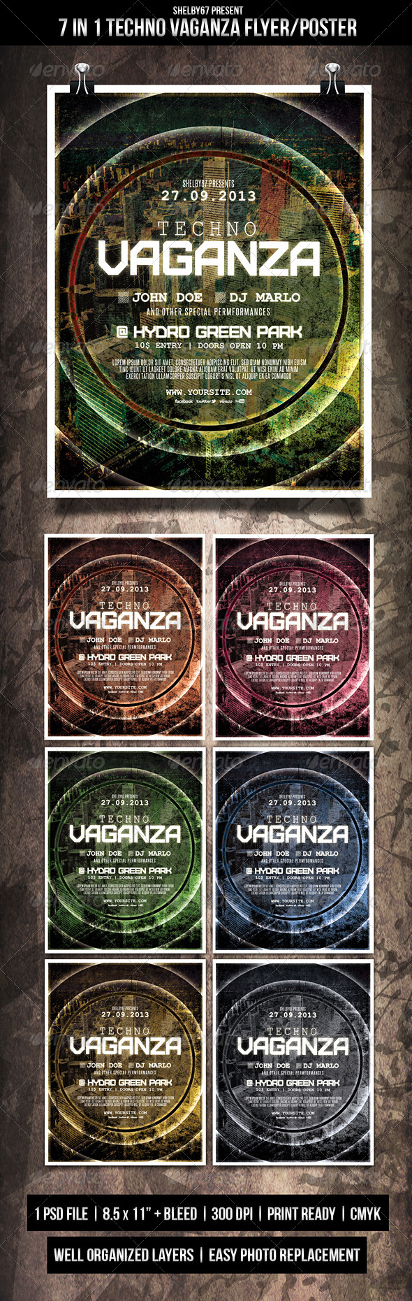 GraphicRiver Techno Vaganza Flyer Poster 5529098