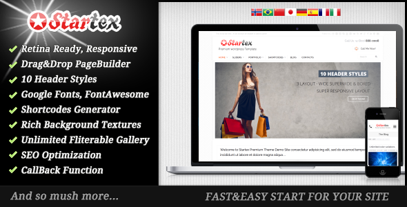 Startex WordPress Theme