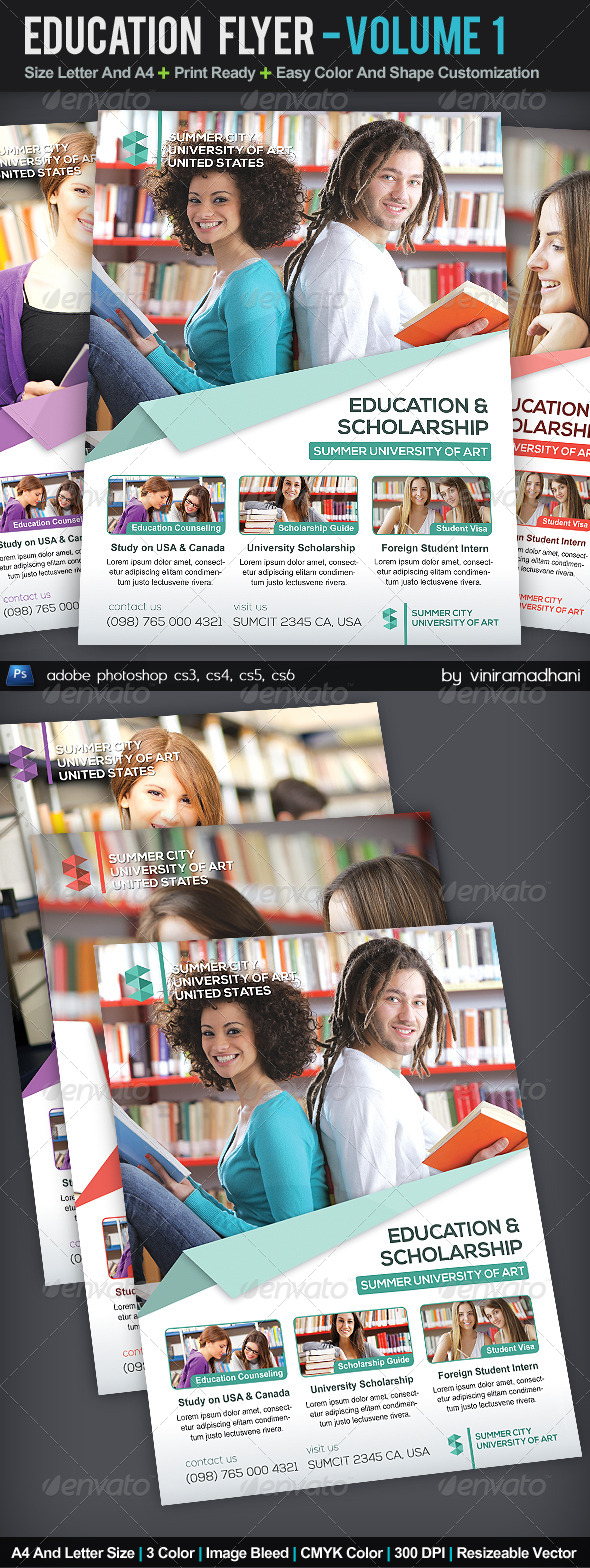 GraphicRiver Education Flyer Volume 1 5529622