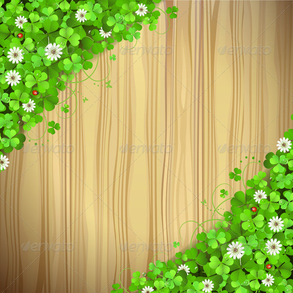 GraphicRiver Wood with Clover 5530076