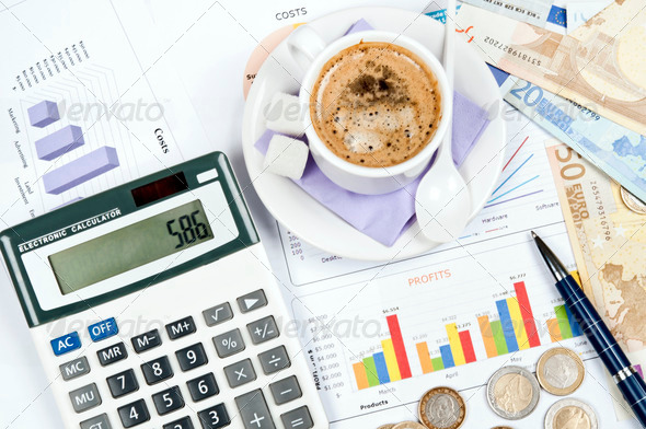 Financial paper - Stock Photo - Images