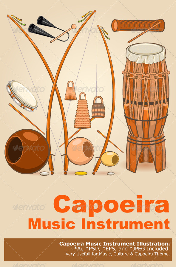 GraphicRiver Brazilian Capoeira Music Instruments 5530840