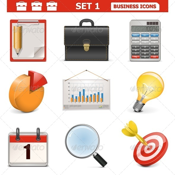 GraphicRiver Vector Business Icons Set 1 5530869