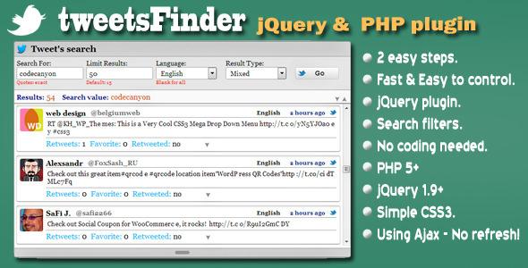 CodeCanyon tweetsFinder 5531019