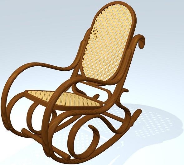 3DOcean Classic Rocking Chair 5503339