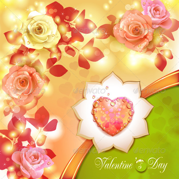 GraphicRiver Valentine s day card 5531544
