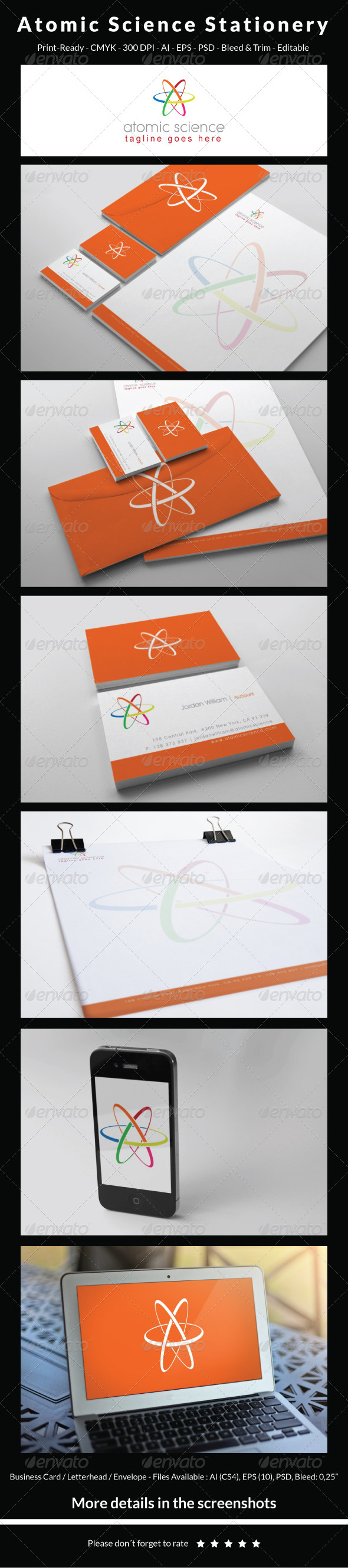 GraphicRiver Atomic Science Stationery 5448714