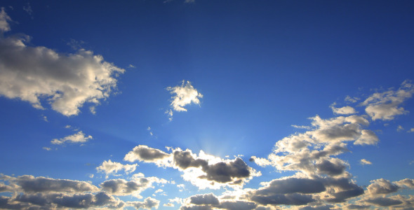 VideoHive Sun Glare in the Clouds 5532043