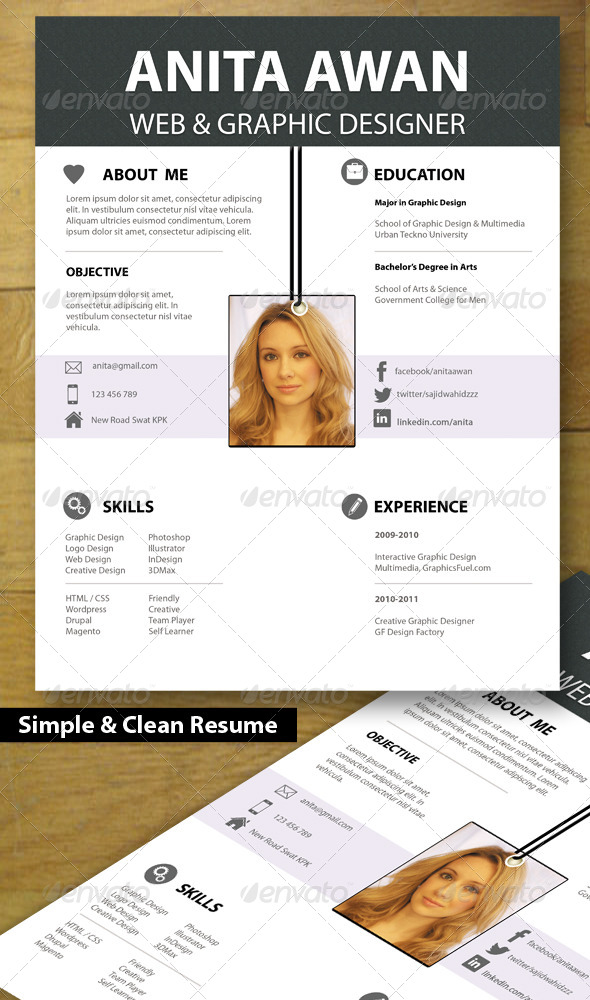 GraphicRiver Smart & Clean Resume 5532162