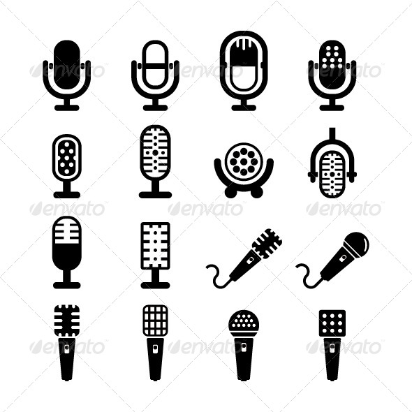 GraphicRiver Microphone Vector 5532165